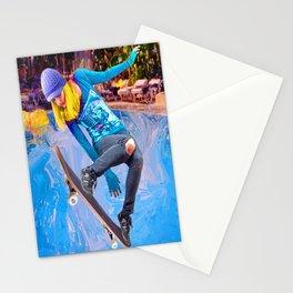 Skateboarding on Water Stationery Cards