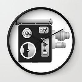 old cine camera - spring drive camera 8 mm Wall Clock