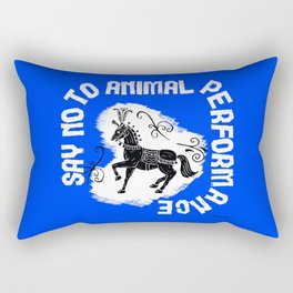 Say NO to Animal Performance - Horse Rectangular Pillow