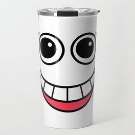 Laughing Face Travel Mug