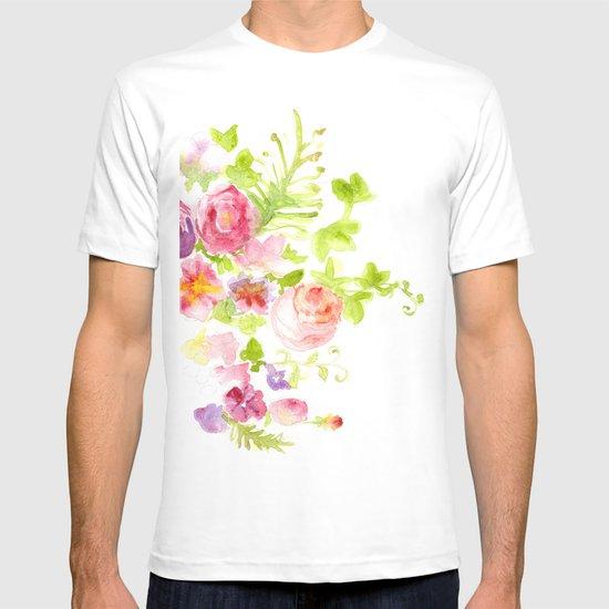 Floral Card T-shirt