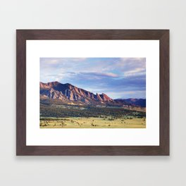 Boulder Colorado Flatirons Framed Art Print