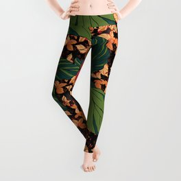 rose with dandelion - variant Leggings