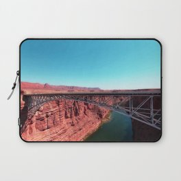 bridge over the river in the desert with blue sky in USA Laptop Sleeve