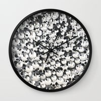 mirror Wall Clocks featuring Mirror by Judith Abbott