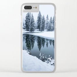 Dreamy Winterscape Clear iPhone Case
