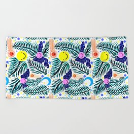 Night Flight  Beach Towel