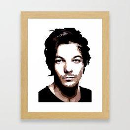 LOUIS TOMLINSON Vector Portrait Framed Art Print
