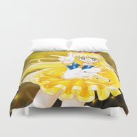 sailor venus Duvet Covers featuring Eternal Sailor Venus by Yue Graphic Design