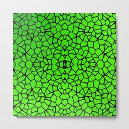 Cut Glass Mosaic Look Metal Print