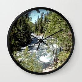 Camping, Hiking, and Kayaking on Vallecito Creek Wall Clock