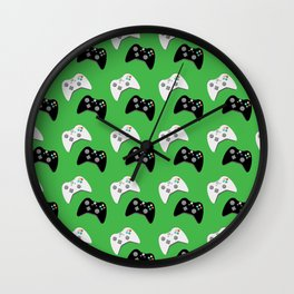 Video Game Controllers Wall Clock