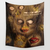nightmare Wall Tapestries featuring Nightmare by Cross-Eyed Morgan