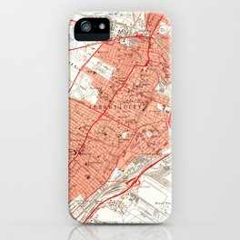 Vintage Map of Jersey City NJ (1955) iPhone Case