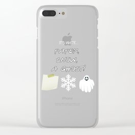 """""""Paper, Snow, A Ghost!"""" - Friends TV Show Clear iPhone Case"""
