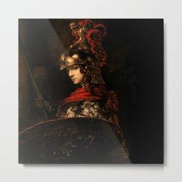 Pallas Athena by Rembrandt Catalysis Culture Special Signature Metal Print