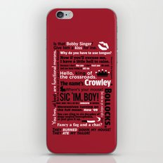 Supernatural - Crowley Quotes iPhone & iPod Skin