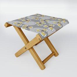 MAYA - Grey & Yellow Folding Stool