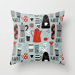 Coffee time Throw Pillow