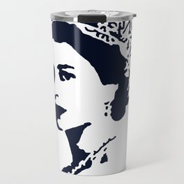 Young Queen in Blue Travel Mug