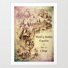 Vintage Columbian Exposition Souvenir Artwork Art Print