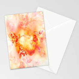 Love is born in the heart Stationery Cards