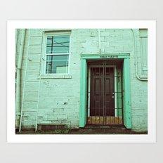 Alleyway door Art Print