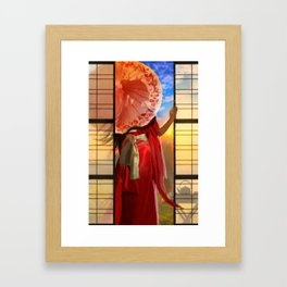 The Tea Maker's Daughter Framed Art Print