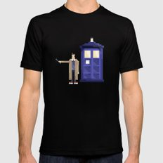 Retro Who Black SMALL Mens Fitted Tee