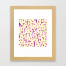 Crystals And Flowers Pattern Framed Art Print