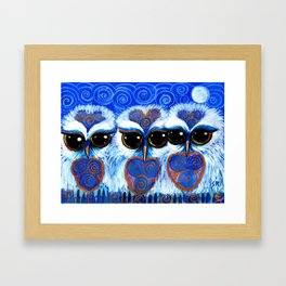 Children of the Moon, original Illustration from the Spirit Owl Series by Sheridon Rayment. Framed Art Print