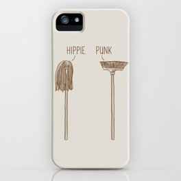 Hippie and Punk iPhone Case