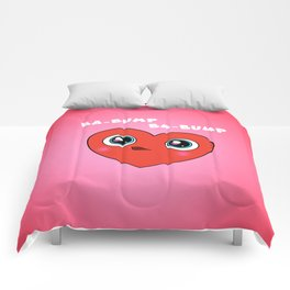 Red Googly Eye Heart Comforters