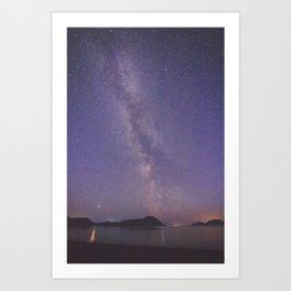 Milky Way - Kodiak, AK Art Print