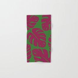 Monstera Leaf Print 4 Hand & Bath Towel