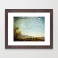 Starlit Vineyard Framed Art Print