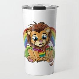 Rainbow Lion Travel Mug