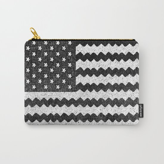 Black Zig Zag Flag Carry-All Pouch