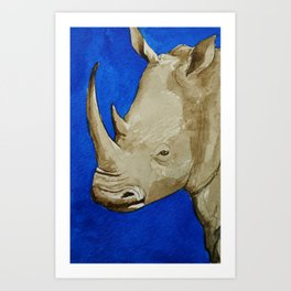 Rhinosophical Art Print