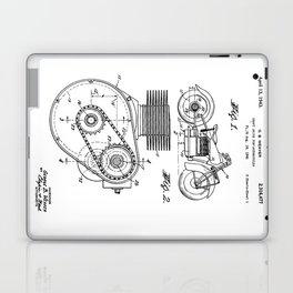 Motorcycle Patent Art Laptop & iPad Skin