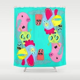 chanchito & cia Shower Curtain