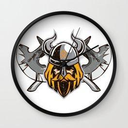 Viking Odin   Valhalla Warrior Wall Clock
