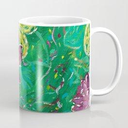 Green Abstract Painting Coffee Mug