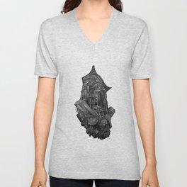 Selenite Lighthouse Unisex V-Neck