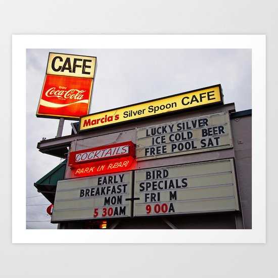 American cafe sign Art Print