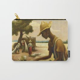 Classical Masterpiece 'Picking Cotton Under the Sun' by Thomas Hart Benton Carry-All Pouch