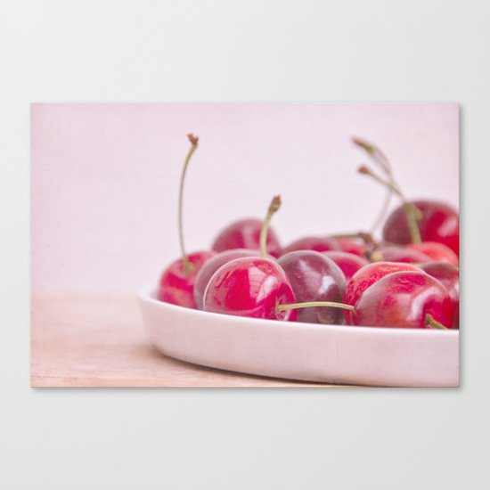 still life with cherries Canvas Print