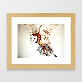 Owl Legs Framed Art Print