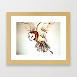 Owl Legs Framed Art Print