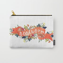 Bookworm (White) Carry-All Pouch